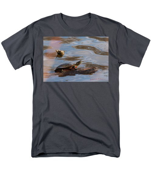 2017 Painted Turtle Men's T-Shirt  (Regular Fit) by Edward Peterson