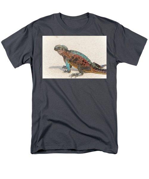 Marine Iguana On Galapagos Islands Men's T-Shirt  (Regular Fit) by Marek Poplawski