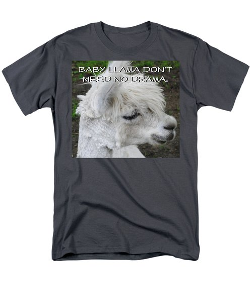 Baby Llama Men's T-Shirt  (Regular Fit) by Ellen Henneke