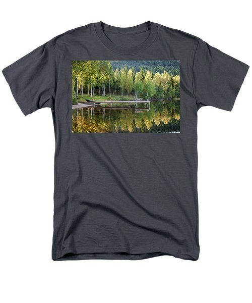 Birches And Reflection Men's T-Shirt  (Regular Fit)