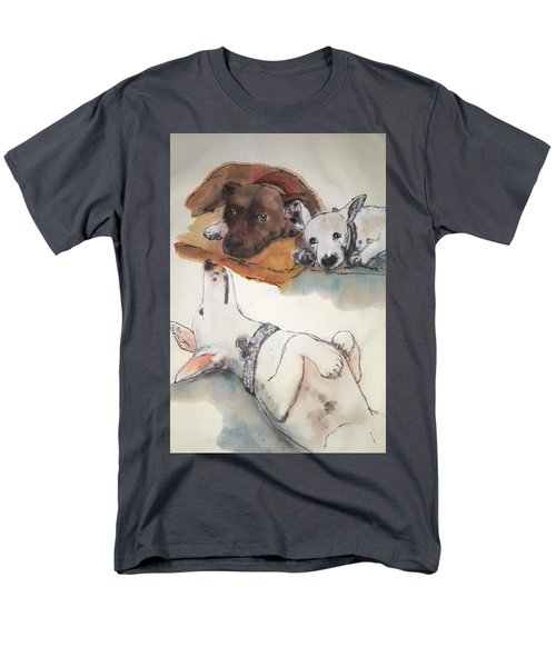 Dogs Dogs  Dogs Album Men's T-Shirt  (Regular Fit) by Debbi Saccomanno Chan