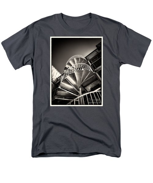 Men's T-Shirt  (Regular Fit) featuring the photograph Pop Brixton - Spiral Staircase - Industrial Style by Lenny Carter