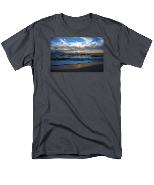 Sunset At Delnor-wiggins Pass State Park Men's T-Shirt  (Regular Fit) by Robb Stan