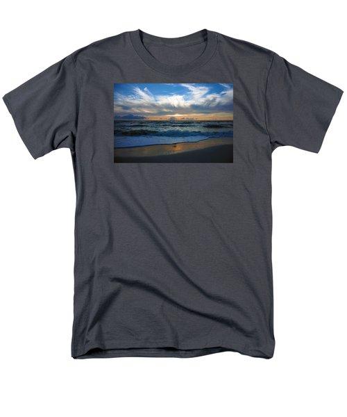 Sunset At Delnor-wiggins Pass State Park Men's T-Shirt  (Regular Fit)