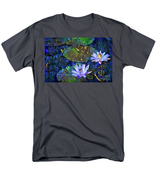 Jeweled Water Lilies Men's T-Shirt  (Regular Fit)