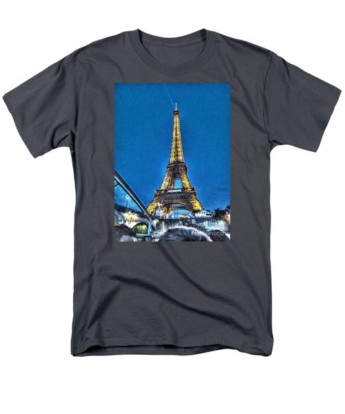 Men's T-Shirt  (Regular Fit) featuring the pyrography Yury Bashkin Paris by Yury Bashkin
