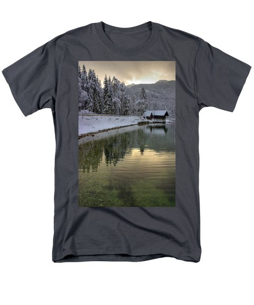 Men's T-Shirt  (Regular Fit) featuring the photograph Alpine Winter Reflections by Ian Middleton