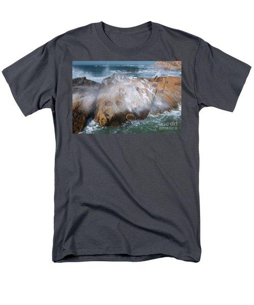 Point Lobos Concretions Men's T-Shirt  (Regular Fit) by Glenn Franco Simmons