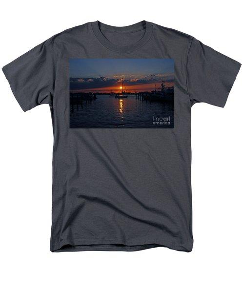 Men's T-Shirt  (Regular Fit) featuring the photograph 5- Sailfish Marina Sunset In Paradise by Joseph Keane