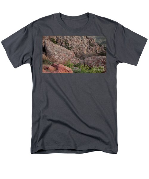 Men's T-Shirt  (Regular Fit) featuring the photograph Wichita Mountains by Iris Greenwell