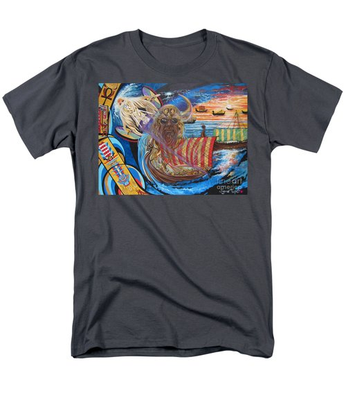 Men's T-Shirt  (Regular Fit) featuring the painting 500 Empires Never Die - Odin by Sigrid Tune