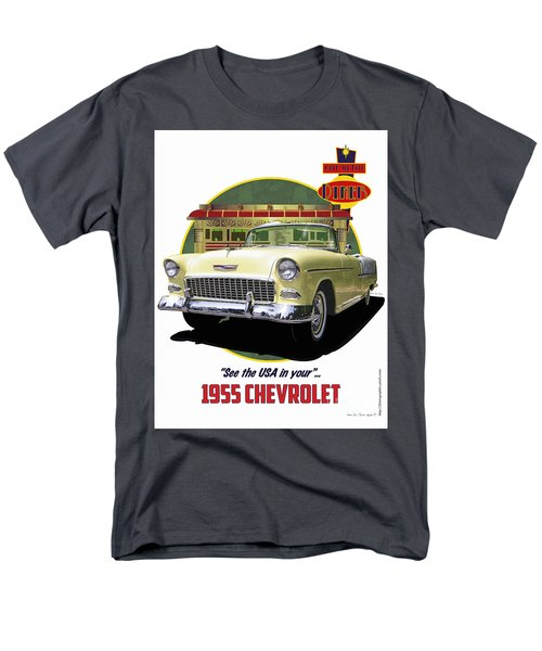 Men's T-Shirt  (Regular Fit) featuring the drawing 55 Chevy by Kenneth De Tore