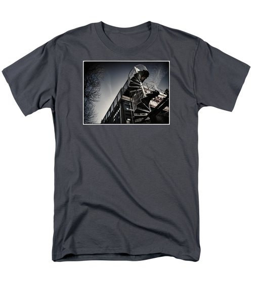 Pop Brixton - Spiral Staircase - Industrial Style Men's T-Shirt  (Regular Fit) by Lenny Carter