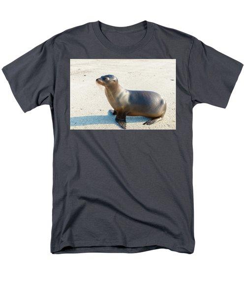 Sea Lion In Galapagos Islands Men's T-Shirt  (Regular Fit) by Marek Poplawski