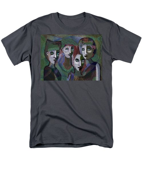 Men's T-Shirt  (Regular Fit) featuring the digital art 649 - Gauntly Ladies by Irmgard Schoendorf Welch