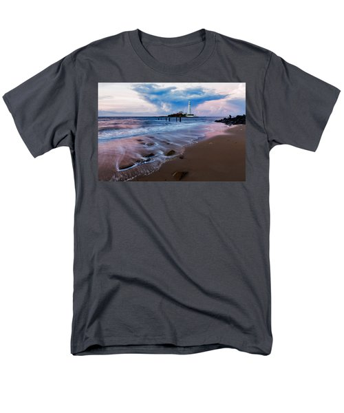Saint Mary's Lighthouse At Whitley Bay Men's T-Shirt  (Regular Fit) by Ian Middleton