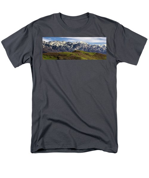 Wasatch Mountains Men's T-Shirt  (Regular Fit) by Utah Images