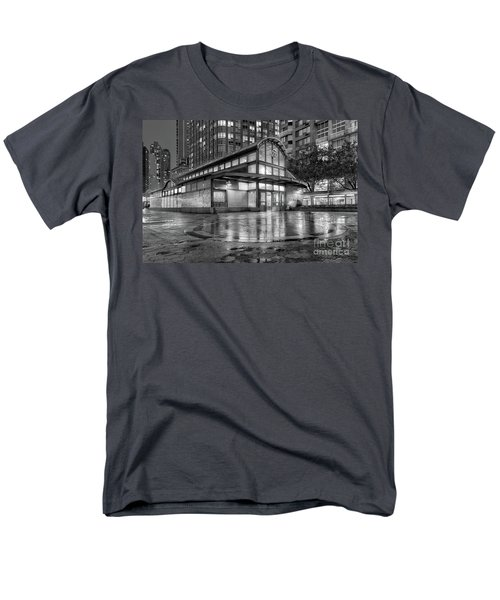 72nd Street Subway Station Bw Men's T-Shirt  (Regular Fit) by Jerry Fornarotto