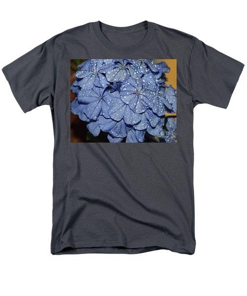 Blue Plumbago Men's T-Shirt  (Regular Fit) by Elvira Ladocki