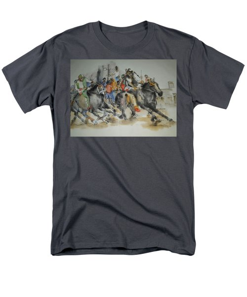 Siena And Their Palio Album Men's T-Shirt  (Regular Fit) by Debbi Saccomanno Chan