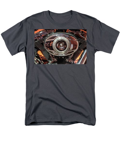Men's T-Shirt  (Regular Fit) featuring the photograph 96 Cubic Inches Softail by Randy Scherkenbach