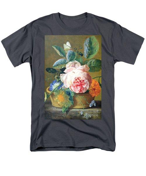A Basket With Flowers Men's T-Shirt  (Regular Fit) by Jan van Huysum