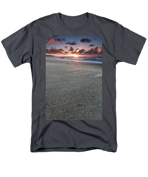 A Beach During Sunset With Glowing Sky Men's T-Shirt  (Regular Fit) by Ulrich Schade