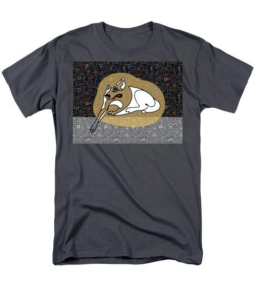 A Big White Dog In A Vegas Casino Men's T-Shirt  (Regular Fit)