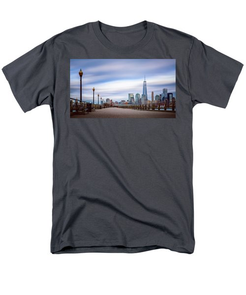 Men's T-Shirt  (Regular Fit) featuring the photograph A Boardwalk In The City by Eduard Moldoveanu