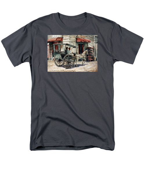 A Carriage On Crisologo Street Men's T-Shirt  (Regular Fit) by Joey Agbayani