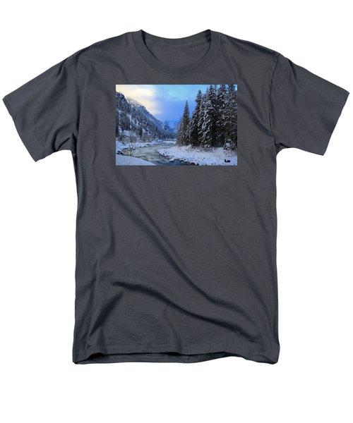 A Cold Winter Day Version 2 Men's T-Shirt  (Regular Fit) by Lynn Hopwood