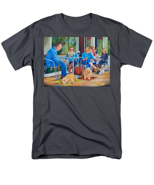 Men's T-Shirt  (Regular Fit) featuring the painting A Dog's Life by AnnaJo Vahle