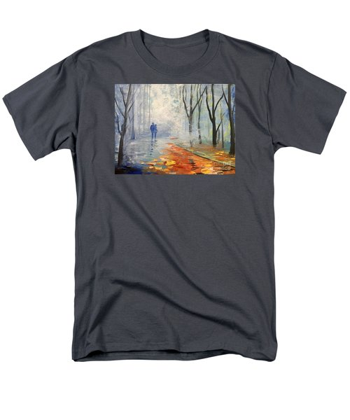 Men's T-Shirt  (Regular Fit) featuring the painting A Fall Walk by Trilby Cole