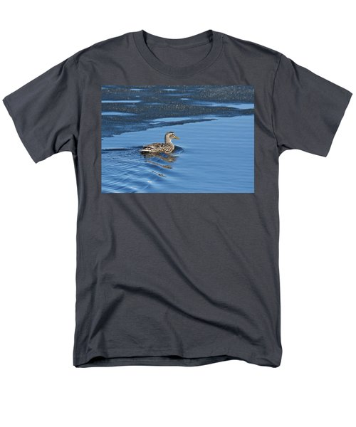 Men's T-Shirt  (Regular Fit) featuring the photograph A Female Mallard In Thunder Bay by Michael Peychich