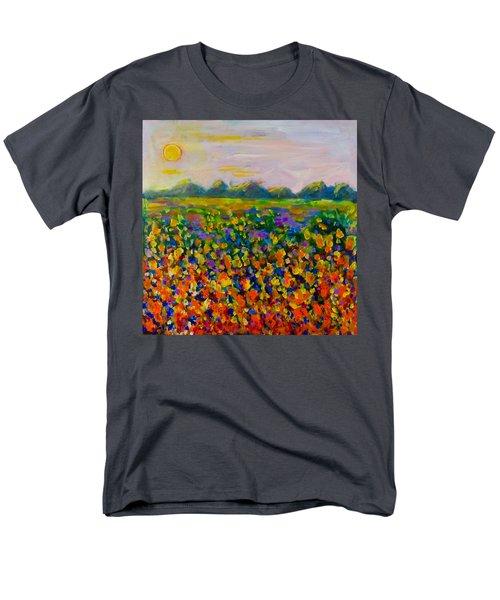 A Field Of Flowers #1 Men's T-Shirt  (Regular Fit) by Maxim Komissarchik