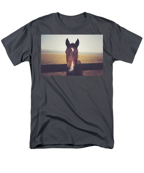 Men's T-Shirt  (Regular Fit) featuring the photograph A Foggy Christmas Day by Shane Holsclaw