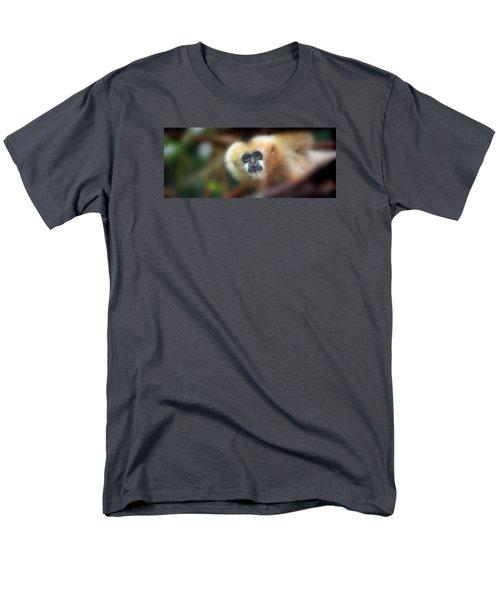 A Gibbon's Stare Men's T-Shirt  (Regular Fit) by Greg Slocum