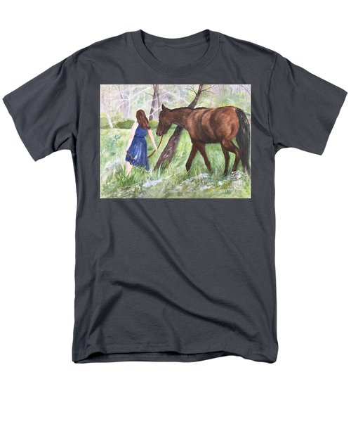 Men's T-Shirt  (Regular Fit) featuring the painting A Girl's Best Friend by Lucia Grilletto