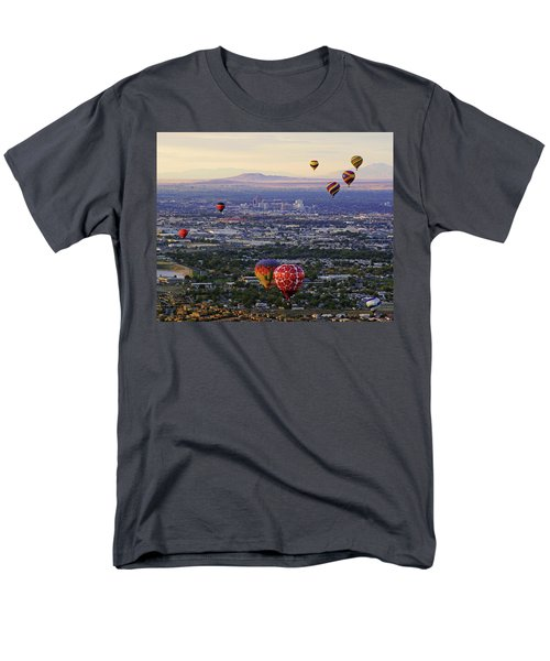 A Hot Air Ride To Albuquerque Cropped Men's T-Shirt  (Regular Fit) by Daniel Woodrum