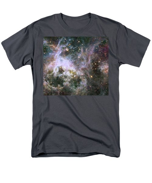 Men's T-Shirt  (Regular Fit) featuring the photograph A Hubble Infrared View Of The Tarantula Nebula by Nasa