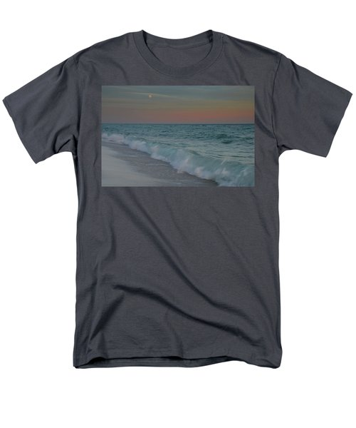 Men's T-Shirt  (Regular Fit) featuring the photograph A Moonlit Evening On The Beach by Renee Hardison