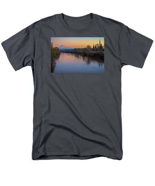 A Mt Tahoma Sunset Men's T-Shirt  (Regular Fit) by Ken Stanback