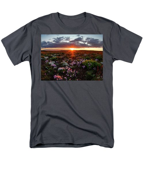 Men's T-Shirt  (Regular Fit) featuring the photograph A Nuttalls Linanthastrum Morning by Leland D Howard