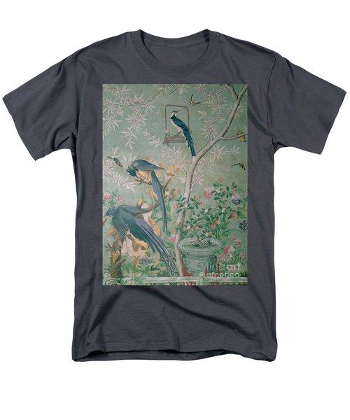 A Pair Of Magpie Jays  Vintage Wallpaper Men's T-Shirt  (Regular Fit) by John James Audubon