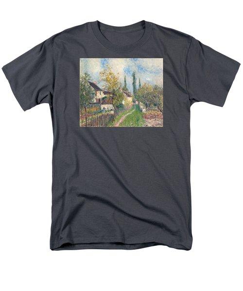 A Path At Les Sablons Men's T-Shirt  (Regular Fit) by Alfred Sisley