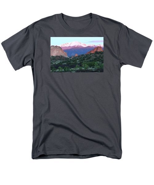 A Pikes Peak Sunrise Men's T-Shirt  (Regular Fit) by Eric Glaser