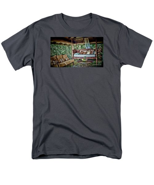 Men's T-Shirt  (Regular Fit) featuring the photograph A Place To Retreat by Pamela Blizzard