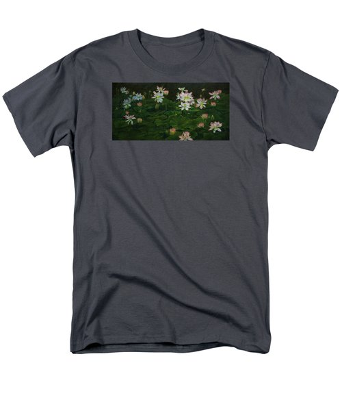 A Pond Full Of Water Lilies And Youtube Video Men's T-Shirt  (Regular Fit) by Roena King