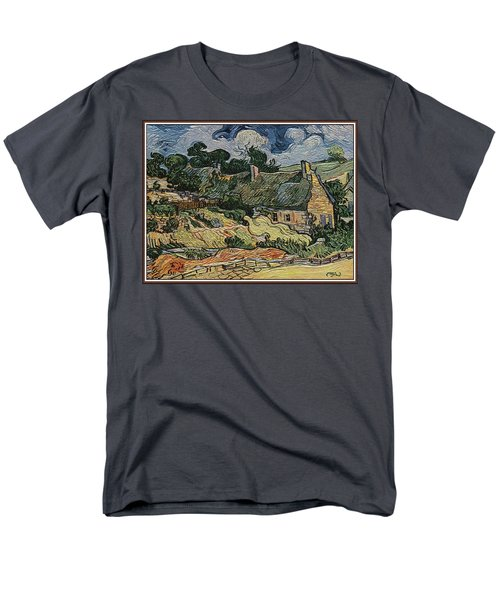 a replica of the landscape of Van Gogh Men's T-Shirt  (Regular Fit) by Pemaro