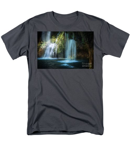 A Resting Place At Natural Falls Men's T-Shirt  (Regular Fit) by Tamyra Ayles